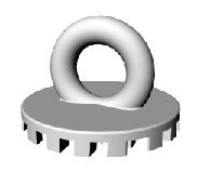 Botão Cerâmico Para Tração de Dentes Inclusos